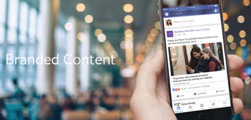What is Branded Content on Facebook