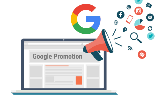 Use Google for the promotion of the business: