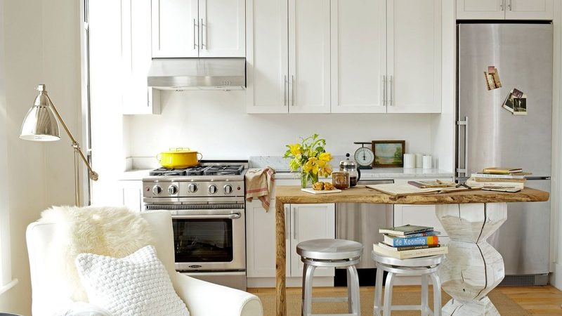 What is the best way to design a small kitchen?